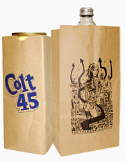 In the bag: The bags feature artwork of graphic novelist Jim Mahfood.