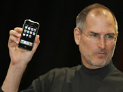 Apple CEO Steve Jobs and the iPhone, now $399.