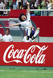 OPEN HAPPINESS: Coke push revolves around goal celebrations.