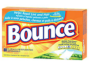 Bounce is among the package-goods brands that are beginning to buy into search advertising.