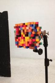 The pixelated paper cube head!