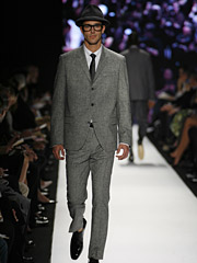 Is that Draper down the runway? A sample of Michael Kors' fall show.