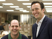 Behind the scenes: (From l.) Show creator Matt Weiner and Charlie Collier, AMC president.