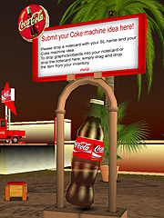 Coke's Second Life vending-machine-design contest is an answer to one of the company's biggest virtual-world dilemmas: how to market a product that's basically useless.