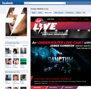 Virgin Mobile's Live Facebook page.