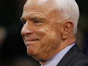 John McCain won a clear victory on Super Tuesday despite opposition from conservative talk show hosts.