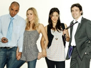 'Modern' mates: The show's characters (from l.) Tariq, Kate, Charlie and Gavin.