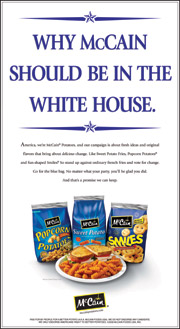 In the running: Marketer takes advantage of presidential campaign.