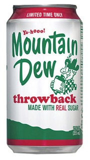 POP CULTURE: Mtn Dew recently launched limited-time, sugar-sweetened versions of its colas.