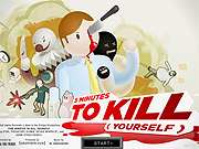 At Adult Swim's upfront, guests got a chance to play 'Five Minutes to Kill Yourself,' a game featured on the network's website, where the object is to off yourself before a really boring board meeting.