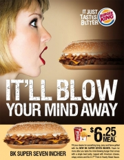 SUPER CONTROVERSY: BK is now courting the women it once risked alienating with ads like this one.