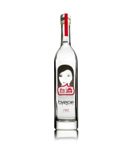 The byejoe bottle draws your attention to the crisp, clear baijiu liquor for distinct impact at point of sale.