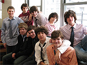 Avery Hairston (bottom row, second from right) and his RelightNY advisory panel. Back row (left to right): Stephen Todres, Will Pagano, Daniel Bernstein, Taiki Kasuga, Jack Schlossberg. Front row (left to right): Peter Chapin, Peter Ginsberg, Avery, Brendan Harvey.