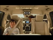 In its latest series of TV spots, Chrysler talks up new technology like the innovative swivel seats in the redone Town & Country minivan.