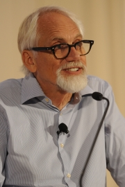 Dan Wieden speaks to attendees at Ad Age's Small Agency Conference