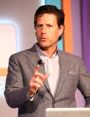 Gregg Heard, VP-brand identity and design, delivers a presentation at the Ad Age Digital Conference in New York.