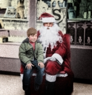 Jose Molla with Santa