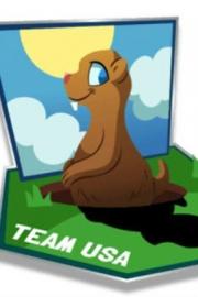 Groundhog-themed virtual Olympic pin