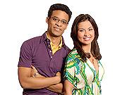 Team players: Me:TV hosts Jordan Carlos and Alexandra Gizela