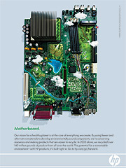 Less to it: Sustainability goals and energy efficiency are cornerstones of the 'Motherboard' ad.