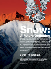 Grim forecast: Aspen got on the map via a futurescape without snow.