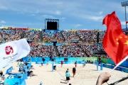 Beach volleyball stadium in Beijing