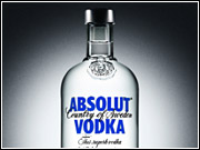 Absolut is the No. 1 brand of vodka in the premium price category.
