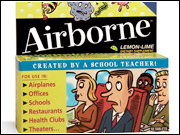 Airborne has been a remarkable bootstrap marketing tale, built heavily by word-of-mouth and public relations around its 'Created by a school teacher!' story.