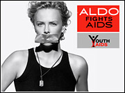 Charlize Theron appears in shoe maker Aldo's year-old anti-AIDS campaign, which was cited as an example of a successful youth cause-marketing effort.