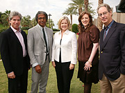 Panelists Ken Sunshine, Elvis Mitchell, Martha Nelson, Glenda Bailey, Peter Herbst