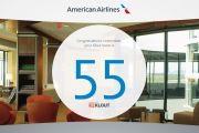 A Klout score of 55 (out of 100) gets you into the Admirals Club.