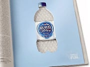 Aquafina's bubble wrap ad