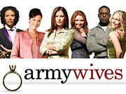 A strong performance by new series 'Army Wives' helped the women's cable network.