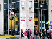 From outside the Audi Forum on Manhattan's Park Avenue