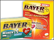 According to the FDA, the marketing of Bayer Aspirin With Heart Advantage and Bayer Women's Low Dose Aspirin With Calcium amounted to making drug claims for products never approved by the FDA as drugs.
