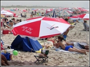 Promotions that supply beach gear live on beyond the initial weekend. Umbrellas and towels can be spotted on the beach throughout the summer or even years after an initial promotion.