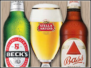 Beck's, Stella and Bass are among the imported InBev brands A-B will distribute and promote domestically.