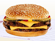 Burger King's double cheeseburger