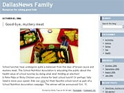 A screen shot from the 'Dallas Morning News' family blog.
