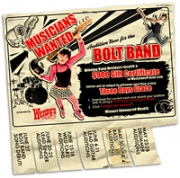 Wendy's Bolt Band site is part of a contest looking to form a band.