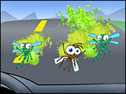 Prestone's online game challenges players to knock as many smashed bugs as possible off a virtual car windshield.