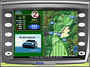 ProLink outfits golf carts with computer screens like the one above that can run an ad, in this case from Cadillac.