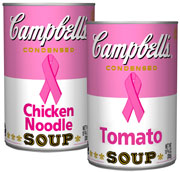 Pink Breast Cancer Awareness labels doubled the sales of Campbell's soups in Kroger stores. | ALSO: Comment on this article in the 'Your Opinion' box below.