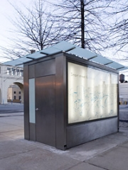 What one of New York's public toilets might look like. Get your ads ready.