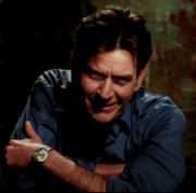 Charlie Sheen in an 'Anger Management' promotional video