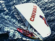 Brand overboard! The TeamChina yacht will be adorned with plenty of Chivas branding during competition.