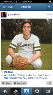 A Chris Christie Instagram post
