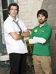 Zachary Levi and Joshua Gomez from NBC's 'Chuck' are taking to the airwaves to promote the upcoming series.