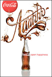 Coke's 'Open Happiness' campaign is being leveraged across the world.