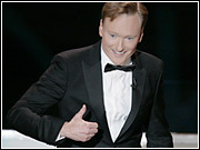 Conan O'Brien hosted this year's Emmys, and poked fun at TV's poor ratings.